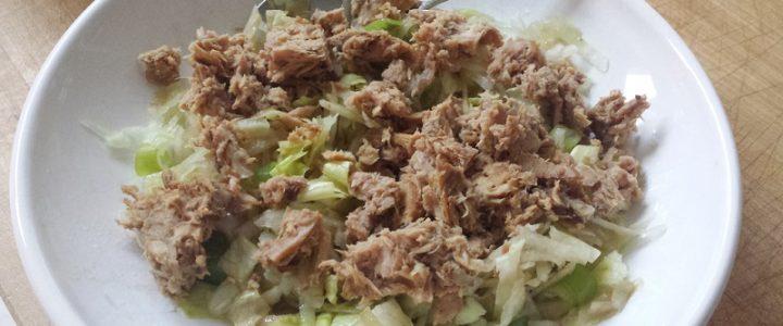 Koolrabi salade met tonijn